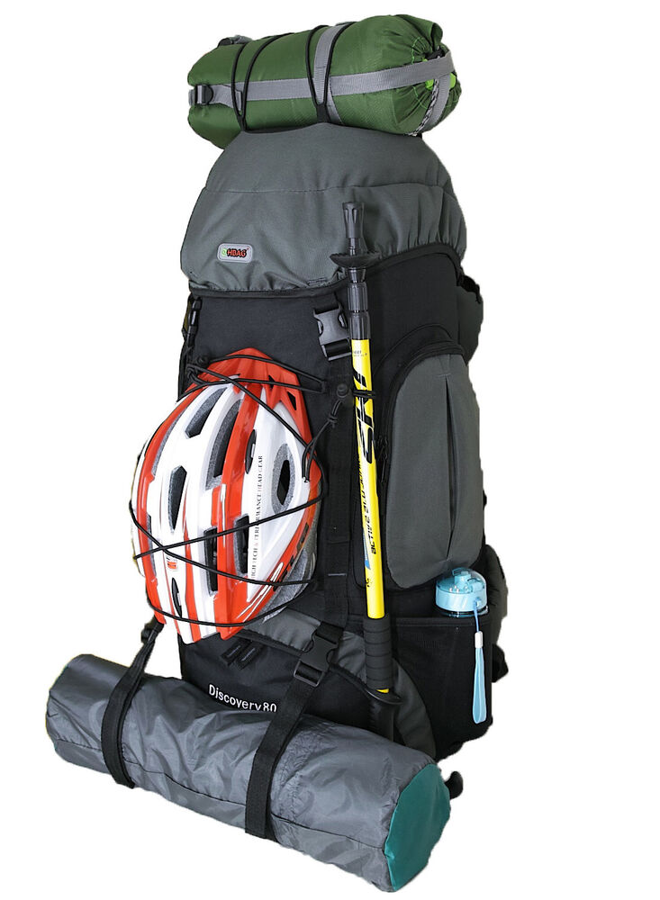 00aa8e1273ed Details about 80L Large HBAG Internal Frame Backpack Camping Hiking Outdoor  Sports Travel Bag