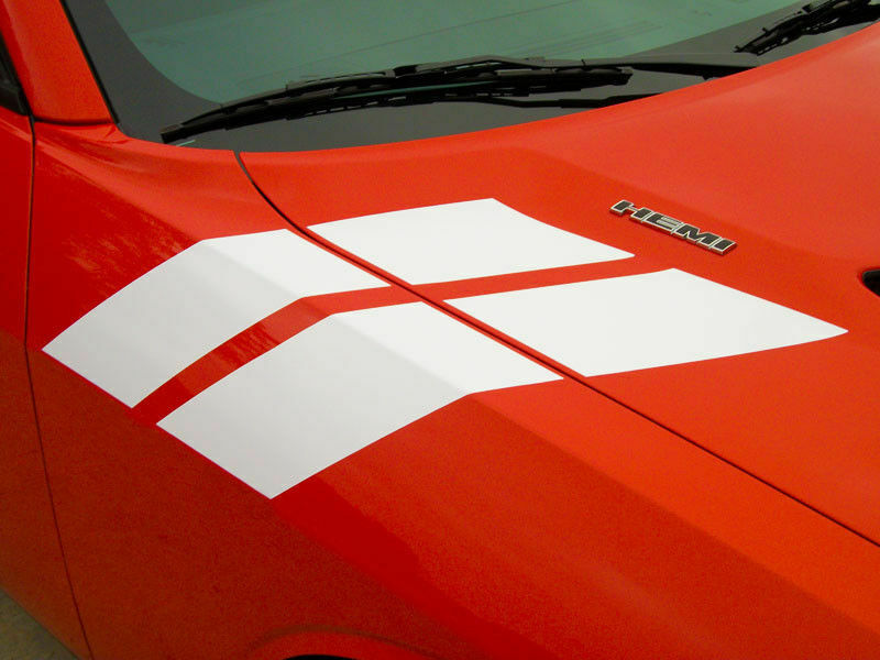 2015-2018 Dodge Challenger Hood Fender Side Stripes Decals ...
