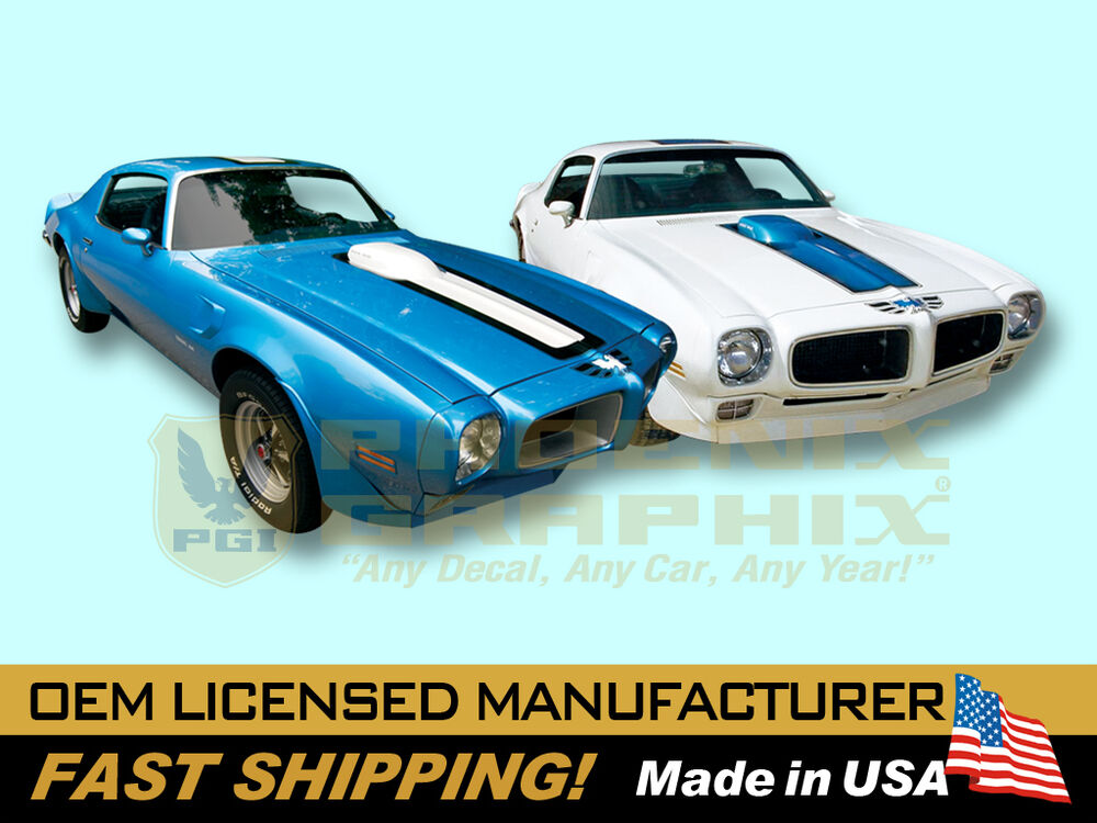 1970 1971 1972 pontiac firebird trans am decals stripes. Black Bedroom Furniture Sets. Home Design Ideas