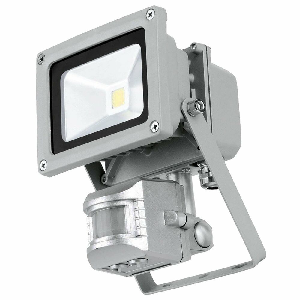 Outdoor Security Lights Pir: MOVEMENT SENSOR FLOOD LIGHT LAMP 10w=100w LOW ENERGY LED