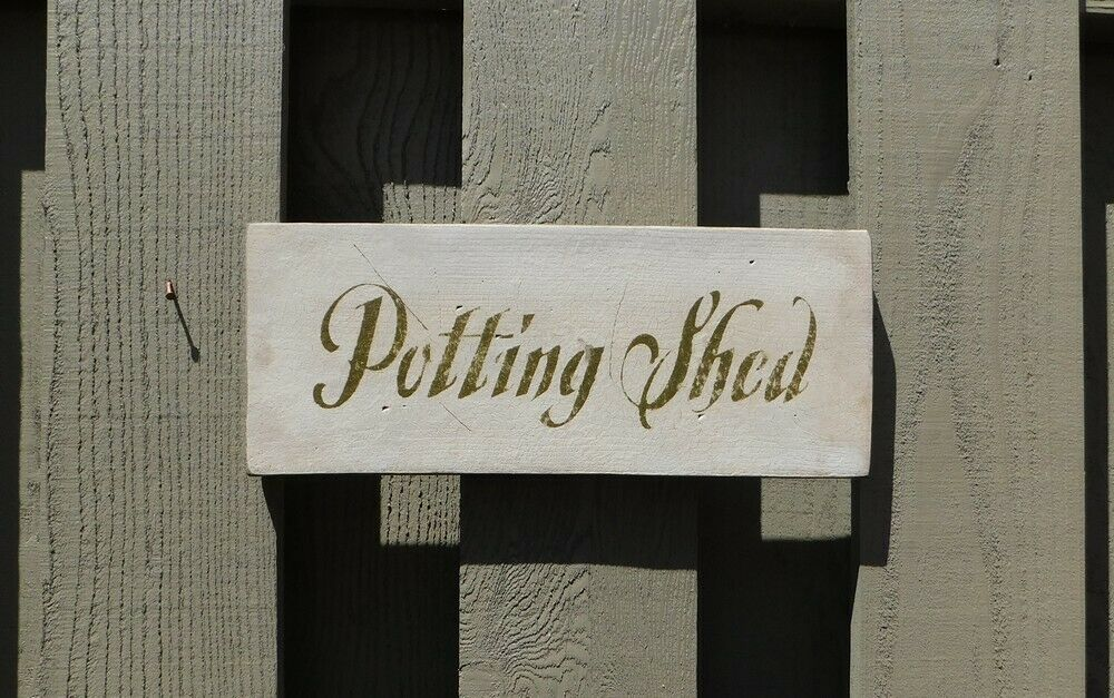 Primitive sign potting shed ebay for Buy potting shed