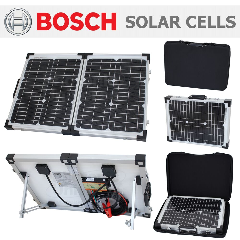 40W Folding Solar Panel Kit 12V Battery Charger motorhome Caravan Boat ...