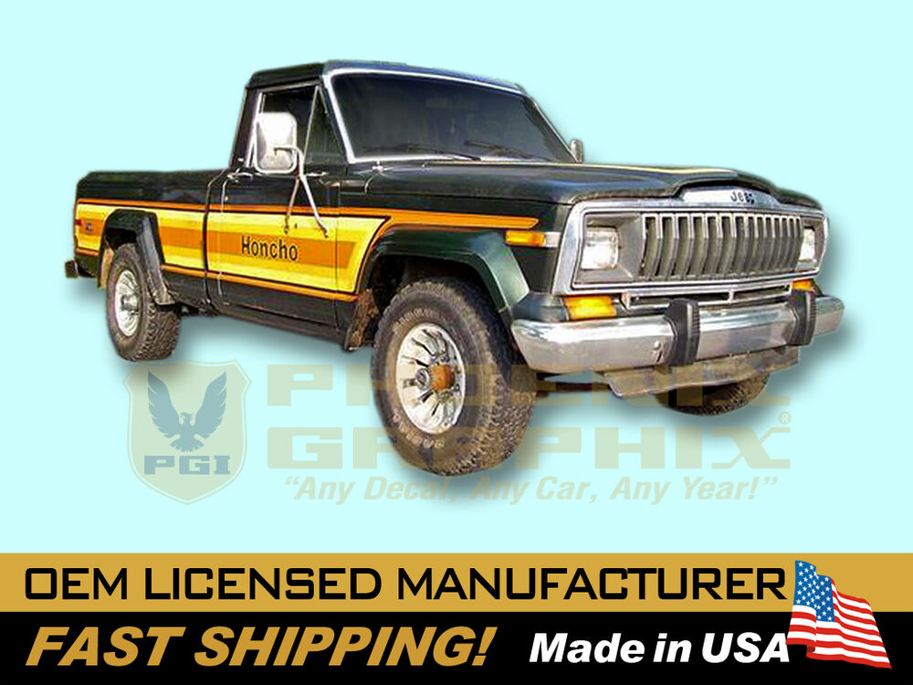 1981 1982 Jeep Honcho J10 Townside Truck Decals & Stripes ...