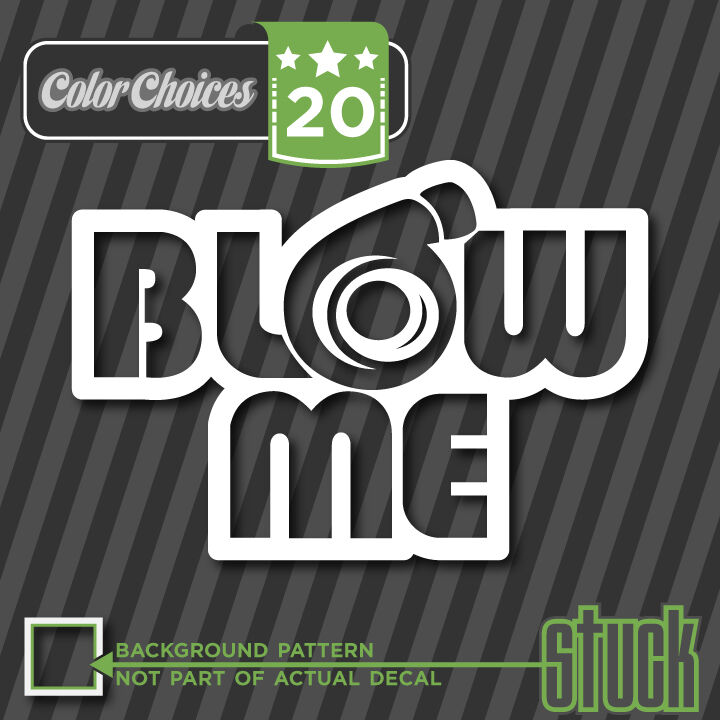 Blow Me Turbo Decal Sticker Jdm Dsm Boost Pressure Supercharger Boosted Ebay