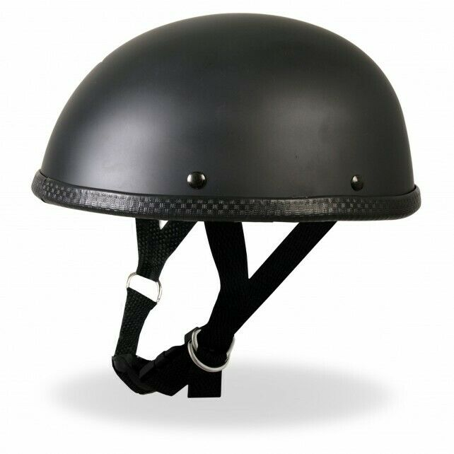 Novelty Low Profile Motorcycle Style Skull Cap Half Helmet ...