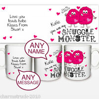 BRAND NEW PERSONALISED SNUGGLE MONSTERS MUG ADD A NAME & MESSSAGE GREAT GIFT