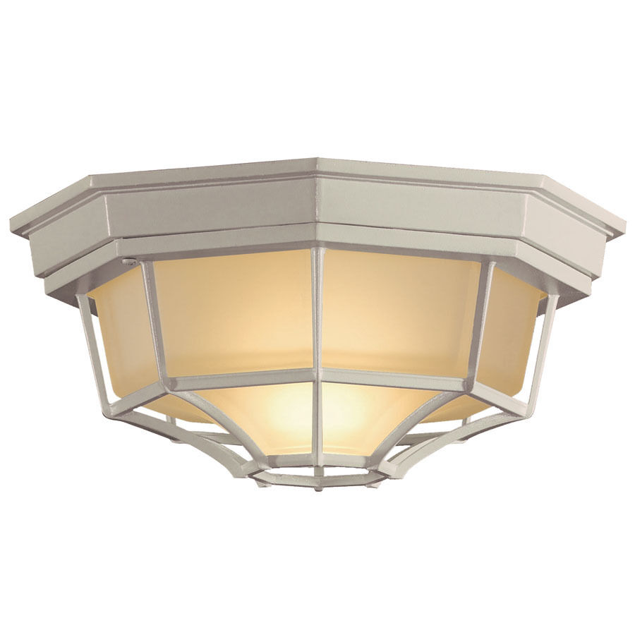Exterior Outdoor Porch Spider Cage Flush Mount Ceiling 1 Light Fixture White Ebay
