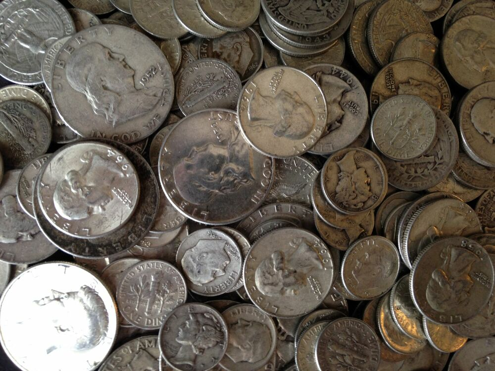 6 Pound Lb Bag 96 Oz Mixed U S Silver Coins 90 Junk