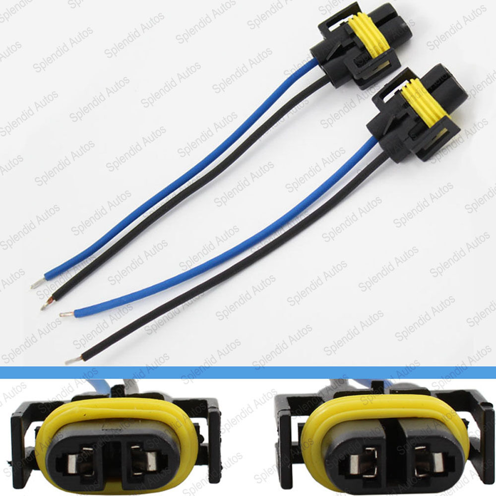 2 pieces h11   h8   h9 wiring harness socket wire Car Wiring Harness Connectors 6.0L Ford Wiring Harness Connectors