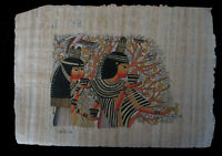 Egyptian Papyrus genuine hand painted The Princess and the Tree 33x24cm
