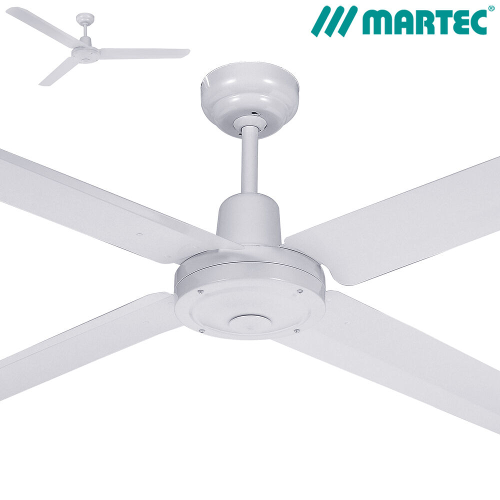 white ceiling fans martec trisera 52 quot 1300mm white ceiling fan 3 or 4 11554
