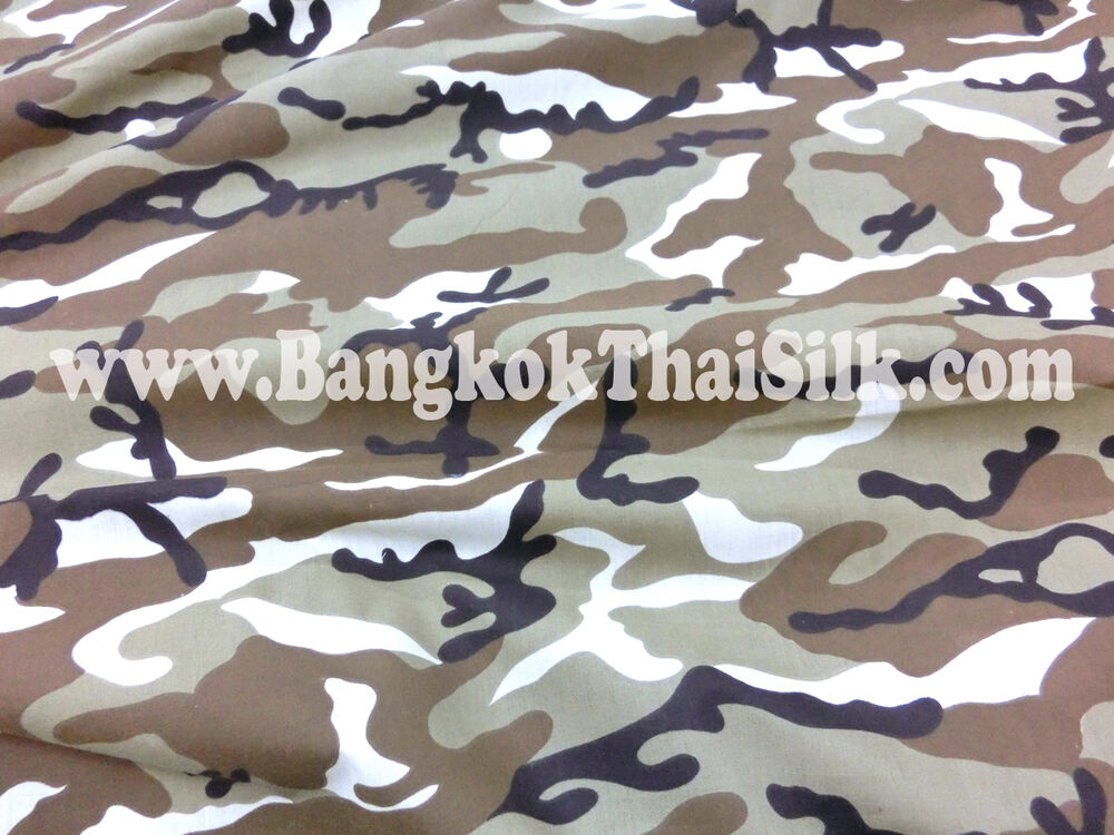 Tan Khaki Brown Army Camouflage Cotton Fabric 45 Quot W Skirt