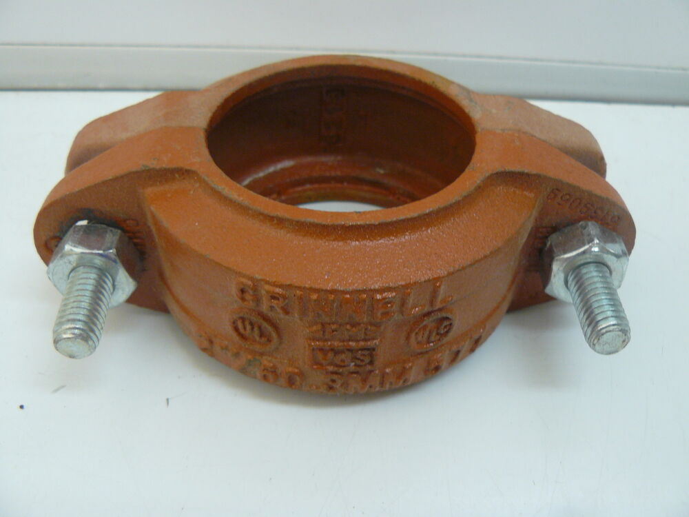Grinnell quot mm fire sprinkler pipe coupling clamp