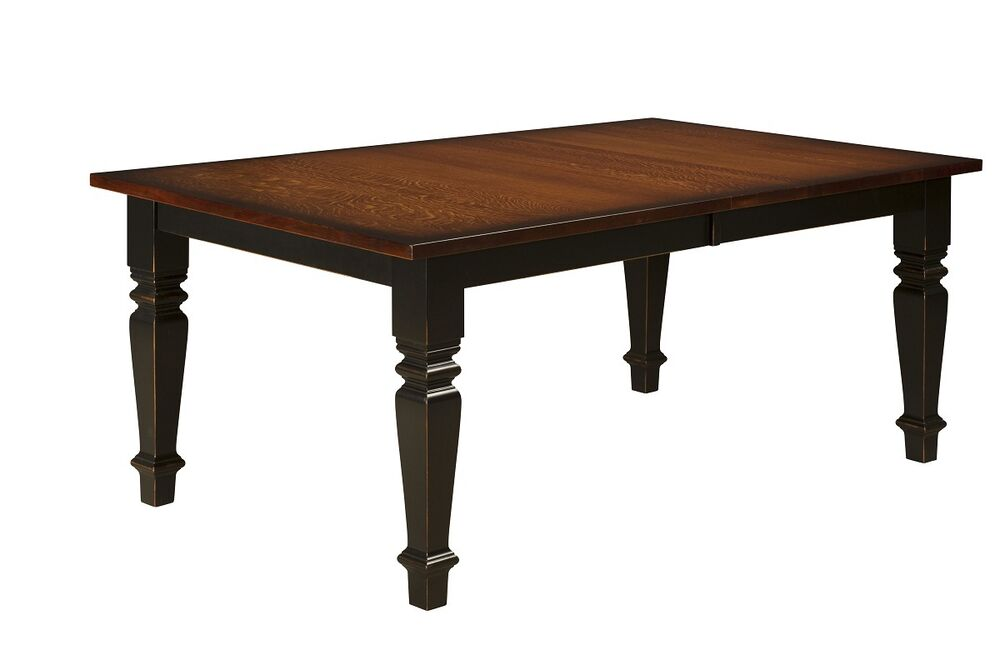 Amish Rectangle Dining Table Farmhouse Country Cottage Extending Solid Wood