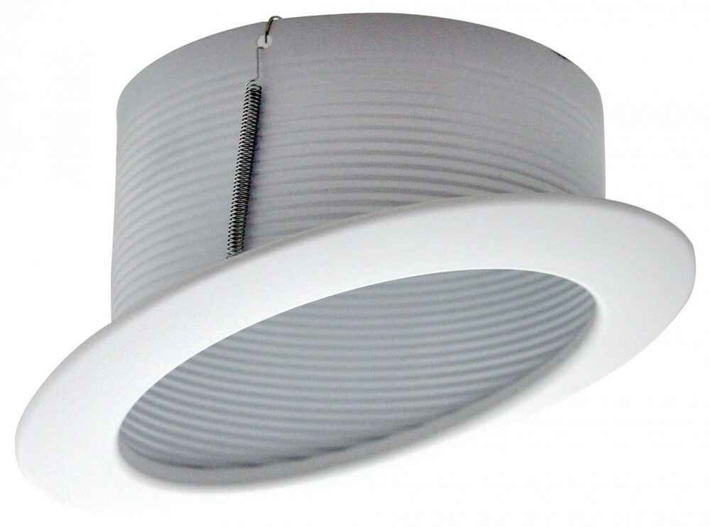 """6 Inch Par30 Adjustable Gimbal Ring Trim White Recessed: 6"""" INCH SLOPE RECESSED CEILING CAN LIGHT STEP TRIM BAFFLE"""