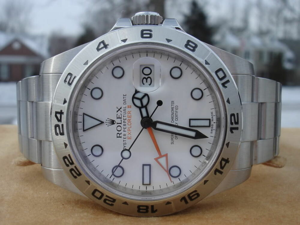 Rolex Explorer II 216570 *New Style* 42mm White Dial WOW ...