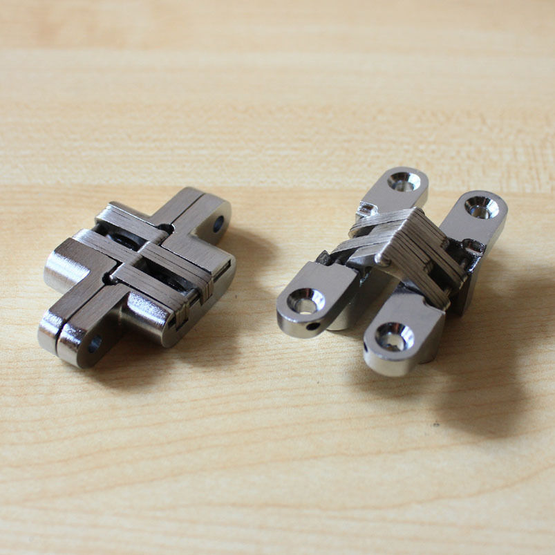 2 pc hidden hinge stainless steel invisible hinges wooden for Hidden hinges