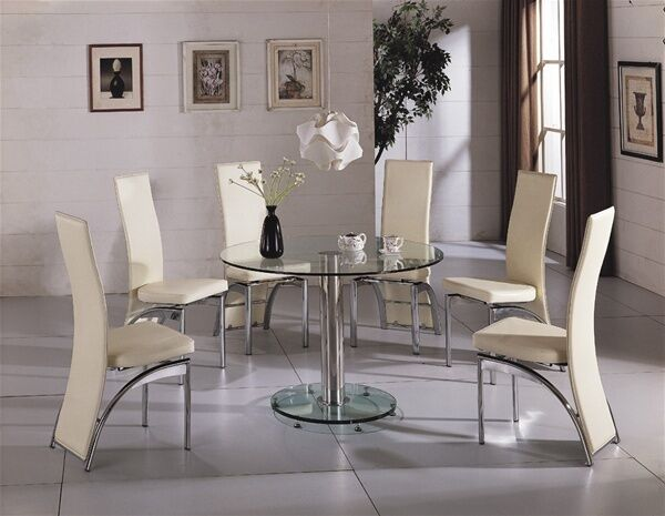 glass tables for dining room glass chrome dining room table amp 4 chairs set 7394
