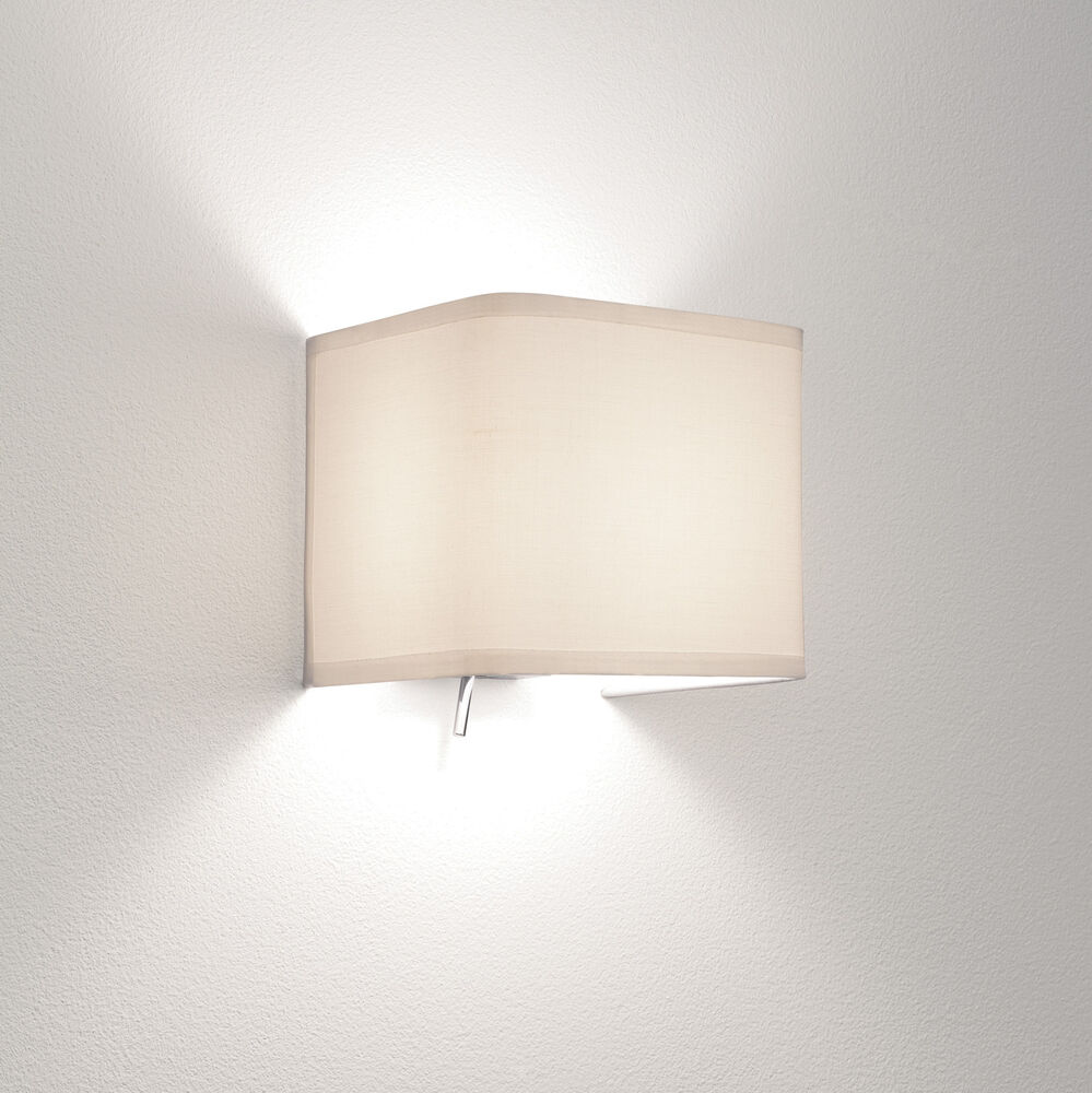 Fabric Lamp Shades Wall Lights : Astro Ashino 0766 toggle switch fabric shade wall light 60W E14 lamp IP20 eBay