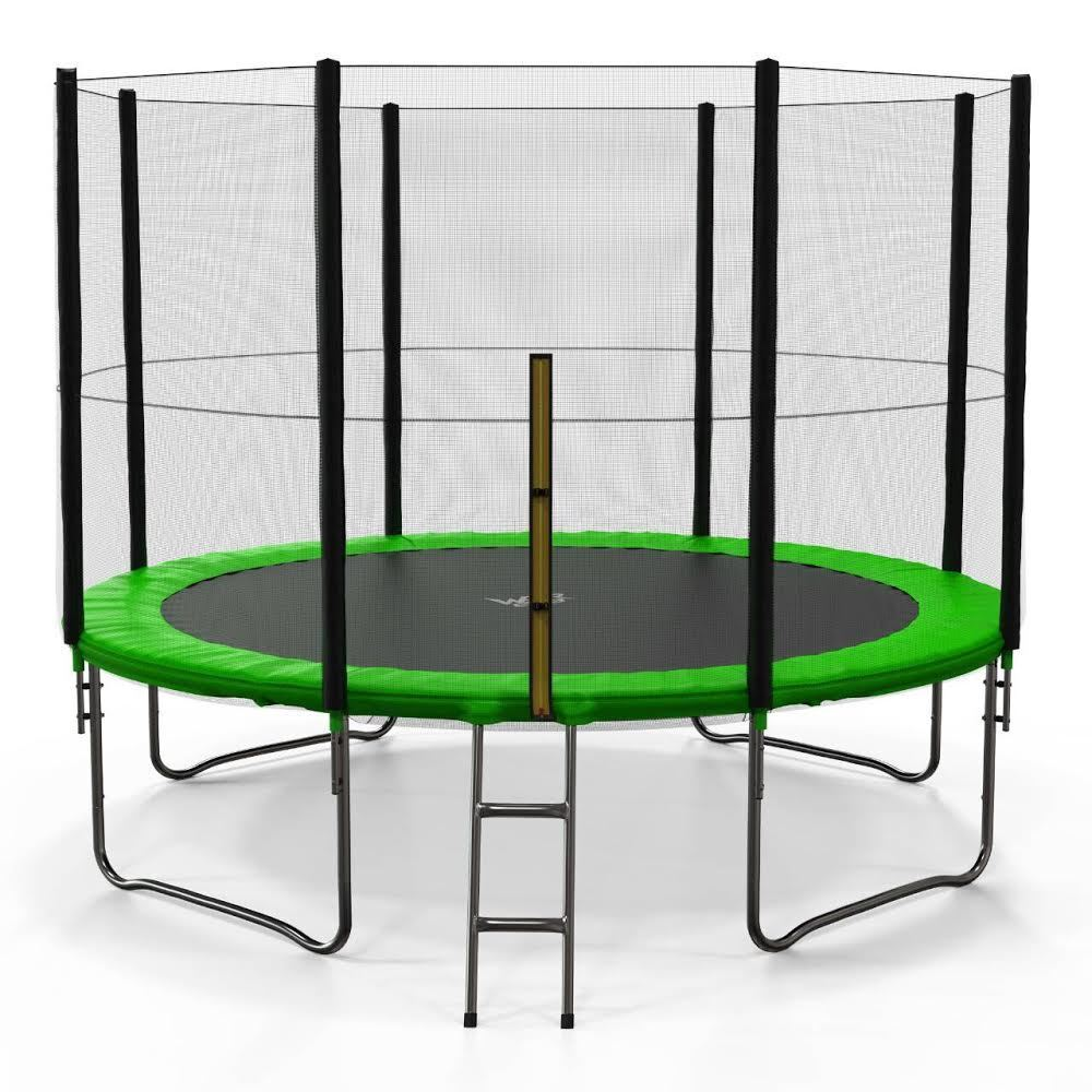 10FT Trampoline With Safety Net Enclosure Ladder Rain