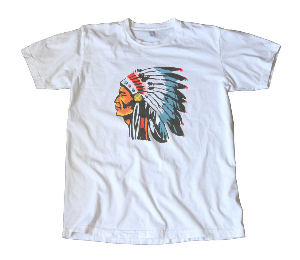 Hot Rod T Shirts >> Vintage IMPKO Indian Chief Decal T-Shirt - Hot Rod, Camping, Scouting, Headdress | eBay