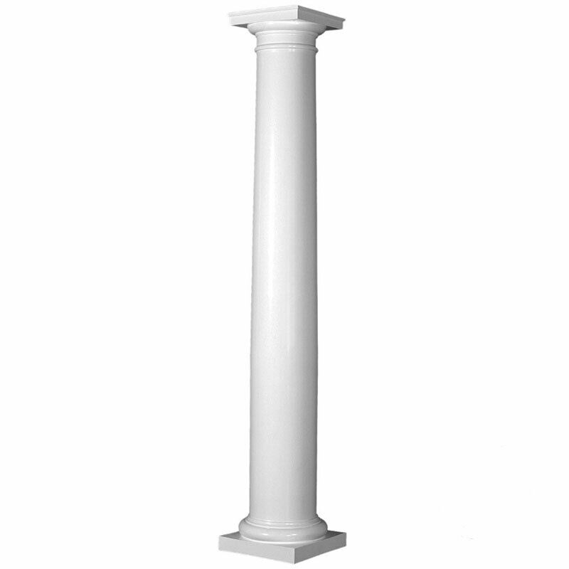 Fiberglass Tapered Smooth Column With Tuscan Capital