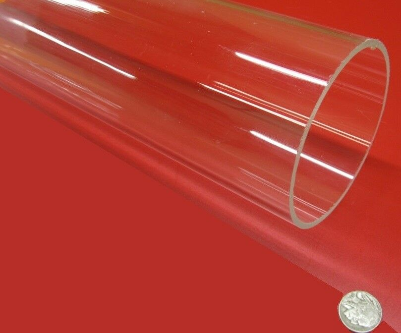 clear plastic tubes acrylic clear extruded 3 75 quot od x 3 50 quot id x 125 29214