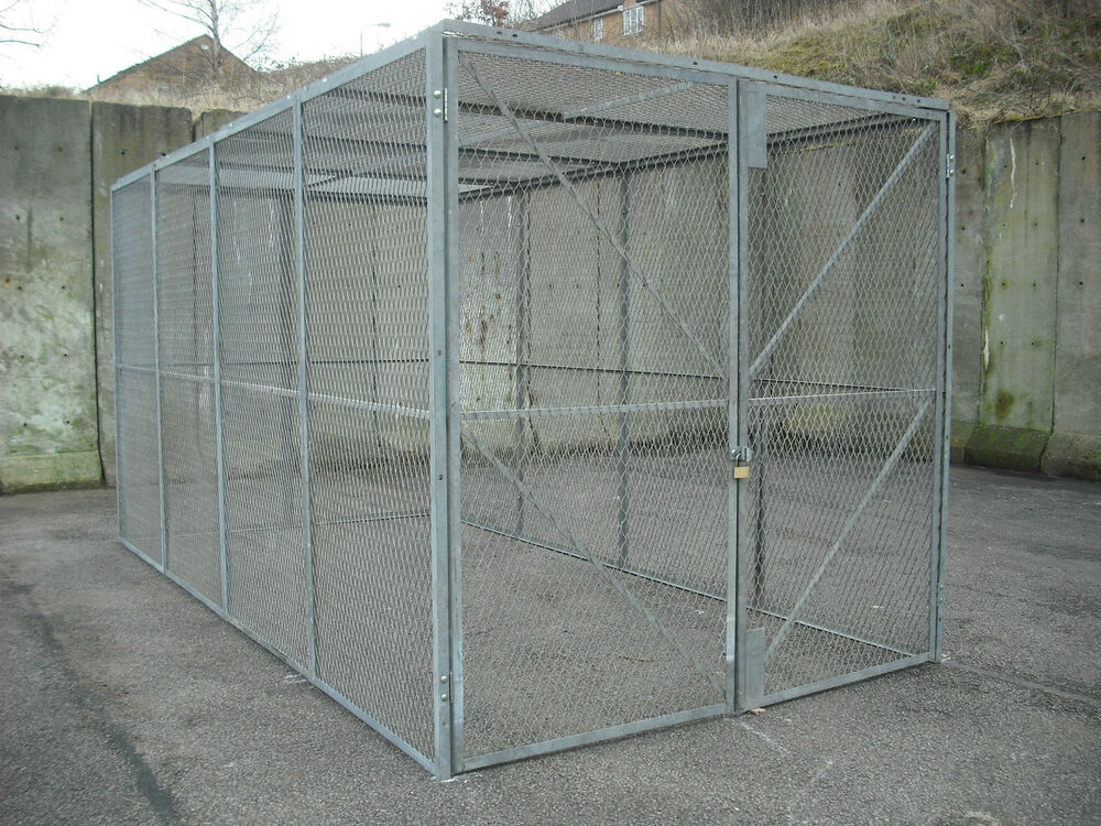 Security Cage Secure Storage Ex Army Ammo Store Double