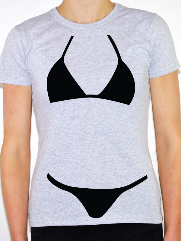 bikini silhouette swimsuit humorous novelty fun. Black Bedroom Furniture Sets. Home Design Ideas