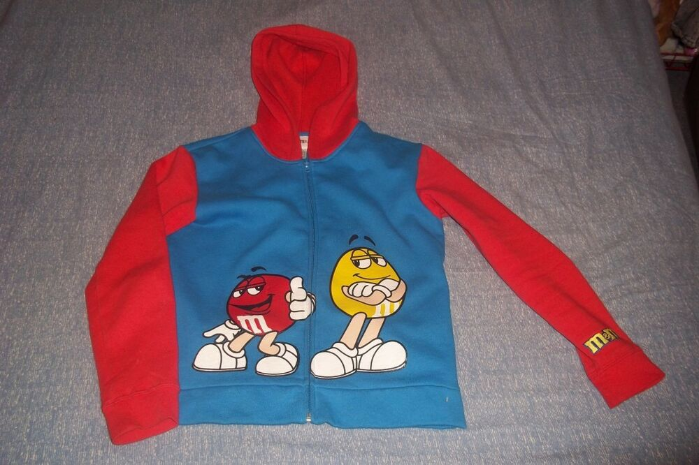 M s chocolate candies red yellow candy hoodie