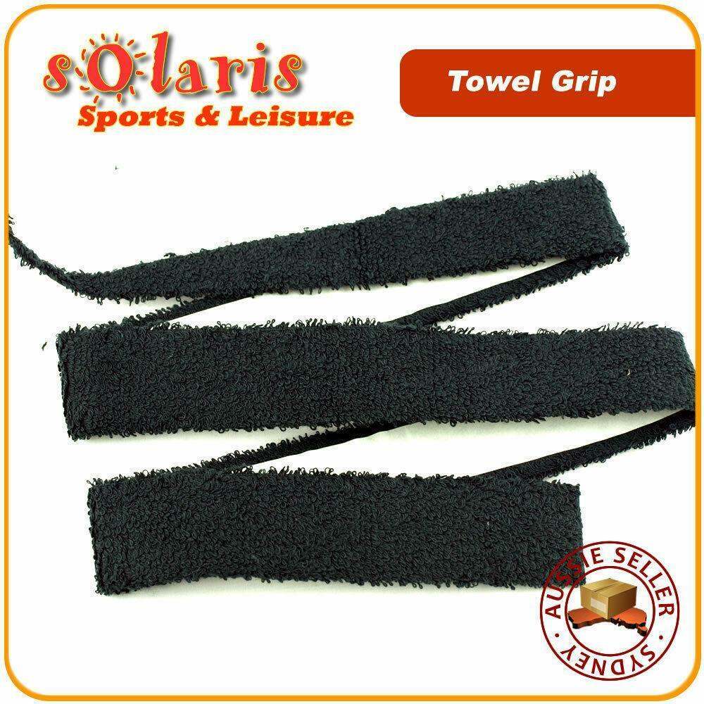 Luxury Sweat Grip Mat Towel: 2 X Cotton Towel Grips Sweat Absorbent Overgrip For