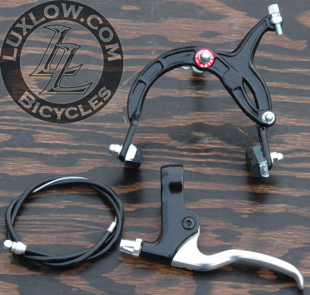 Cable Brake Lever : Black cruiser bike front brake lever cable caliper bmx