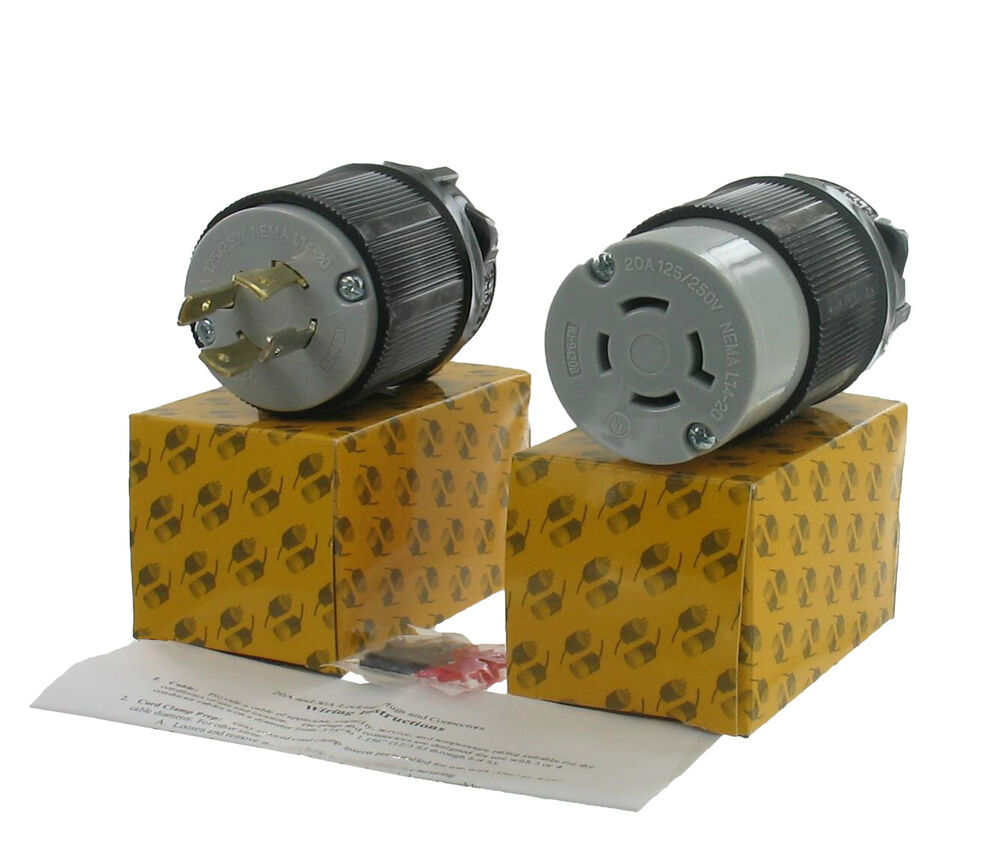 Set Nema L14 Connector For Generator Cord Assembly