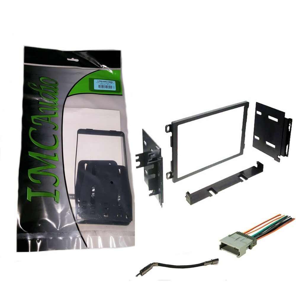 double din stereo radio install dash kit w antenna adapter