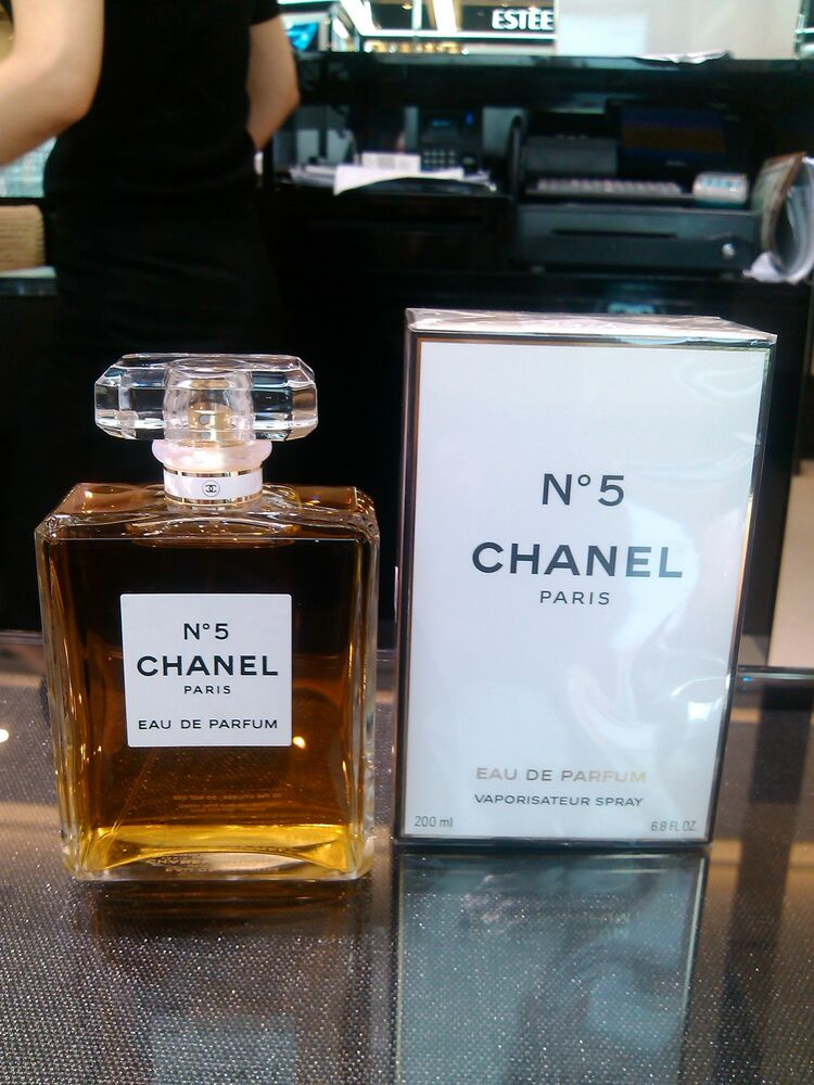 chanel no 5 eau de parfum spray 200ml 6 8 oz fl sealed nib. Black Bedroom Furniture Sets. Home Design Ideas
