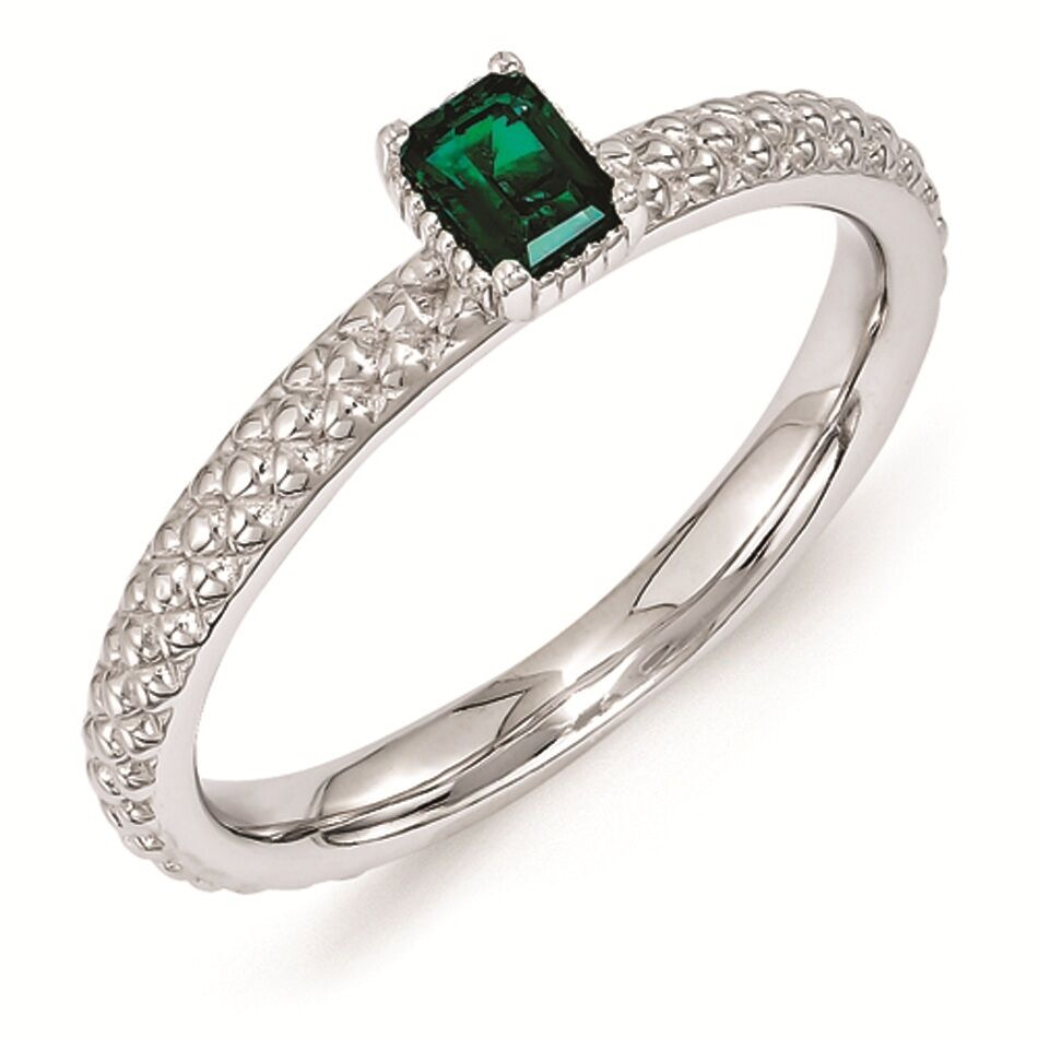 Stackable Emerald Cut Ring
