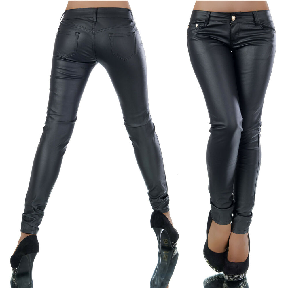 stretch slim moulant jeans pantalon femme simili cuir push up ebay. Black Bedroom Furniture Sets. Home Design Ideas