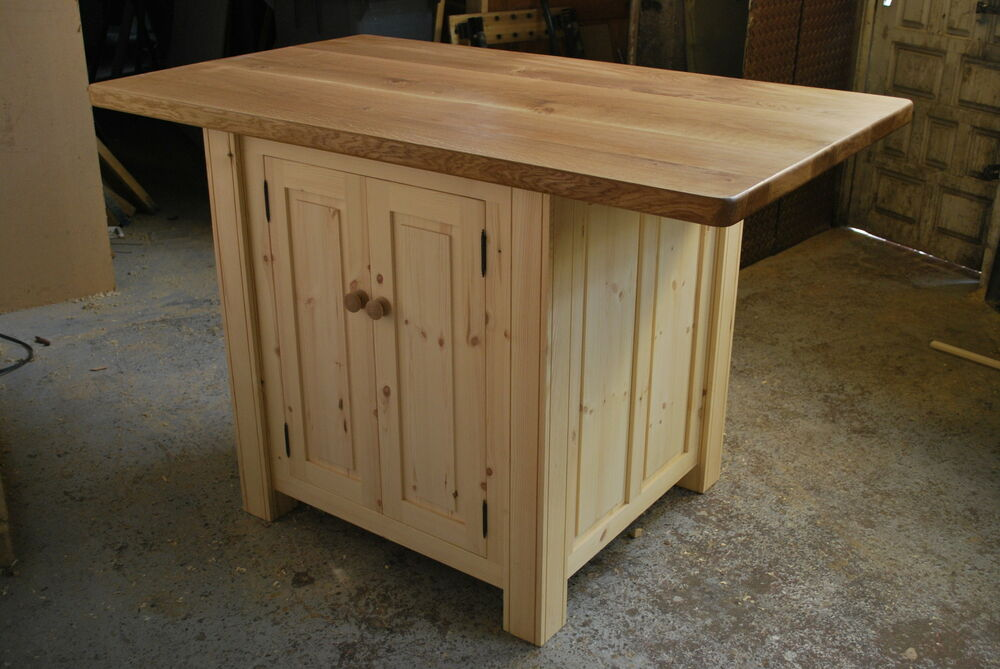 Handmade Bespoke Kitchen Island Breakfast Bar 45mm Thick