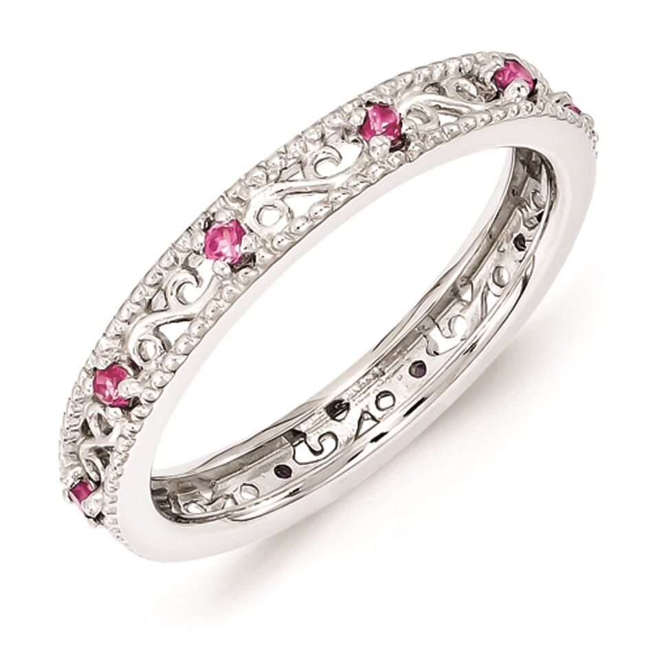Silver Stackable Ring October Birthstone Jewelry Created ...