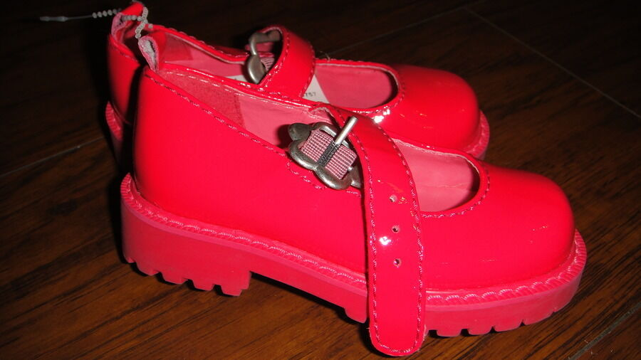 BABY GAP TODDLER 6 HOT PINK MARY JANE SHOES