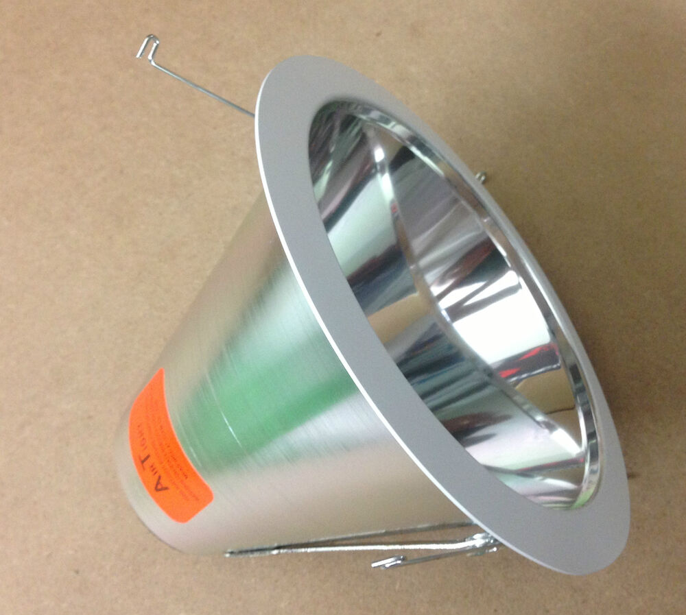 """Shop Light With Reflector: 6"""" INCH AIR TIGHT SPECULAR CHROME REFLECTOR BAFFLE CONE"""