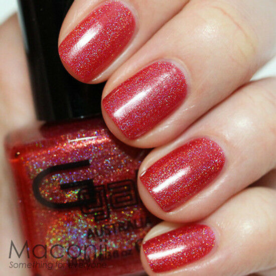 3d Nail Polish: Bright Red Holographic
