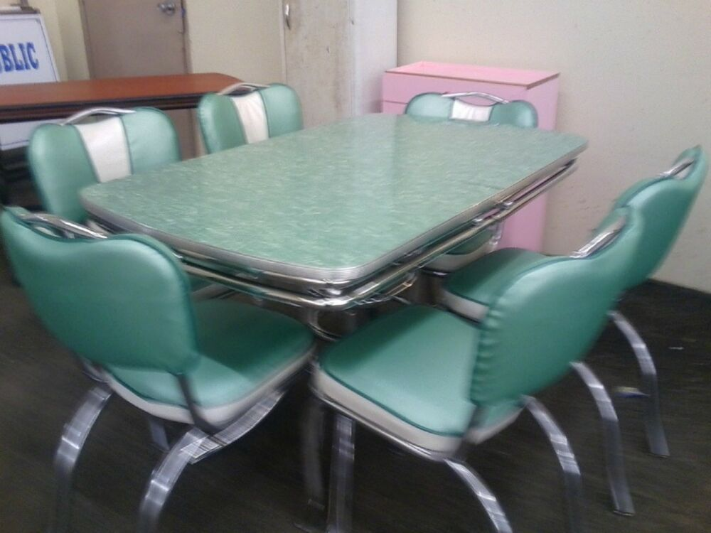 Chrome Vintage 1950 S Formica Kitchen Table And Chairs Ebay