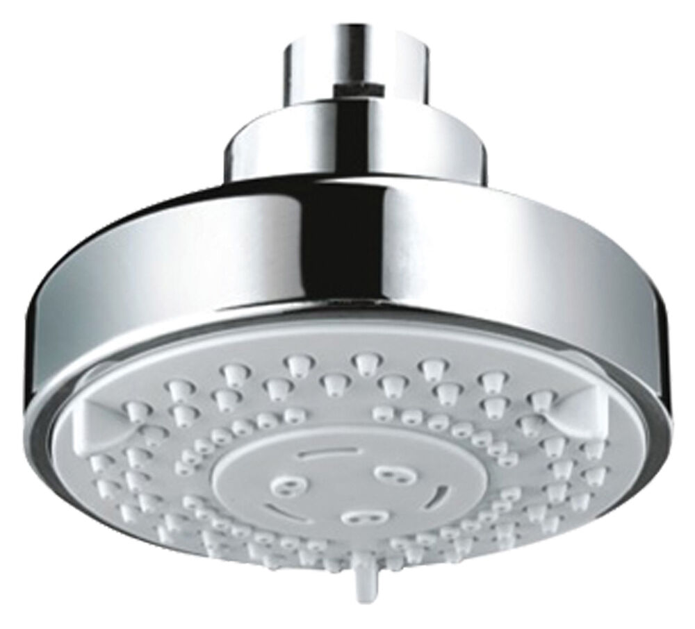 Chrome Round Five Function Fixed Shower Head Suitable For