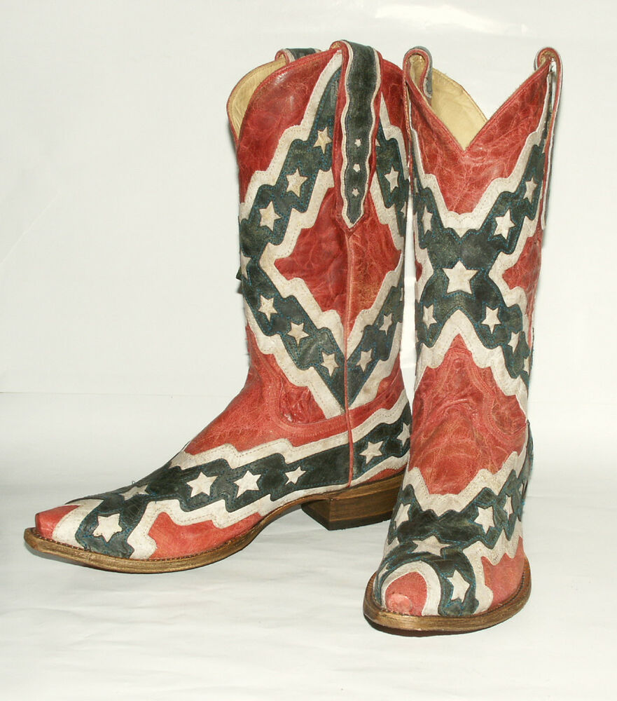 Rebel Flag Boots
