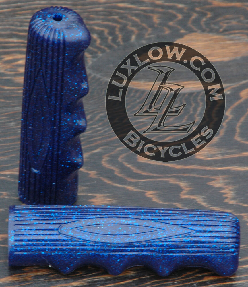 blue sparkle vintage schwinn stingray type bike grips. Black Bedroom Furniture Sets. Home Design Ideas