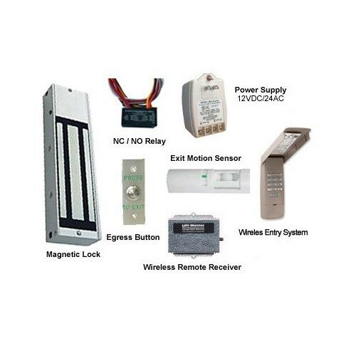Wireless Door Access Kit Magnetic Lock Ebay