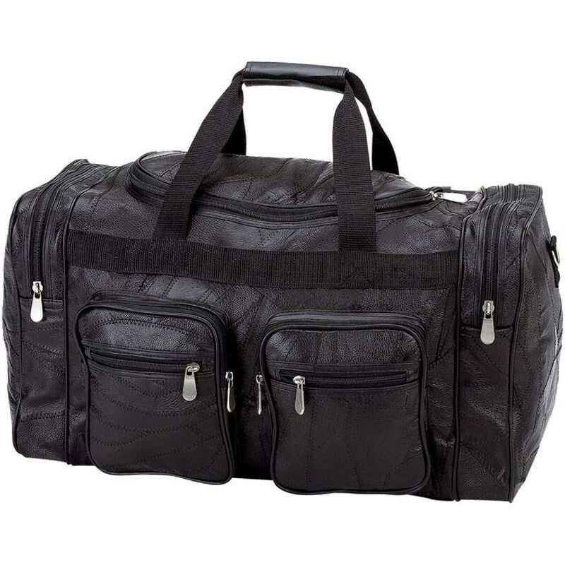 Black 21 Quot Genuine Leather Duffle Bag Mens Overnight Carry