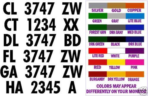 boat hull registration numbers decals stickers 3 inch With stick on letters and numbers for boats