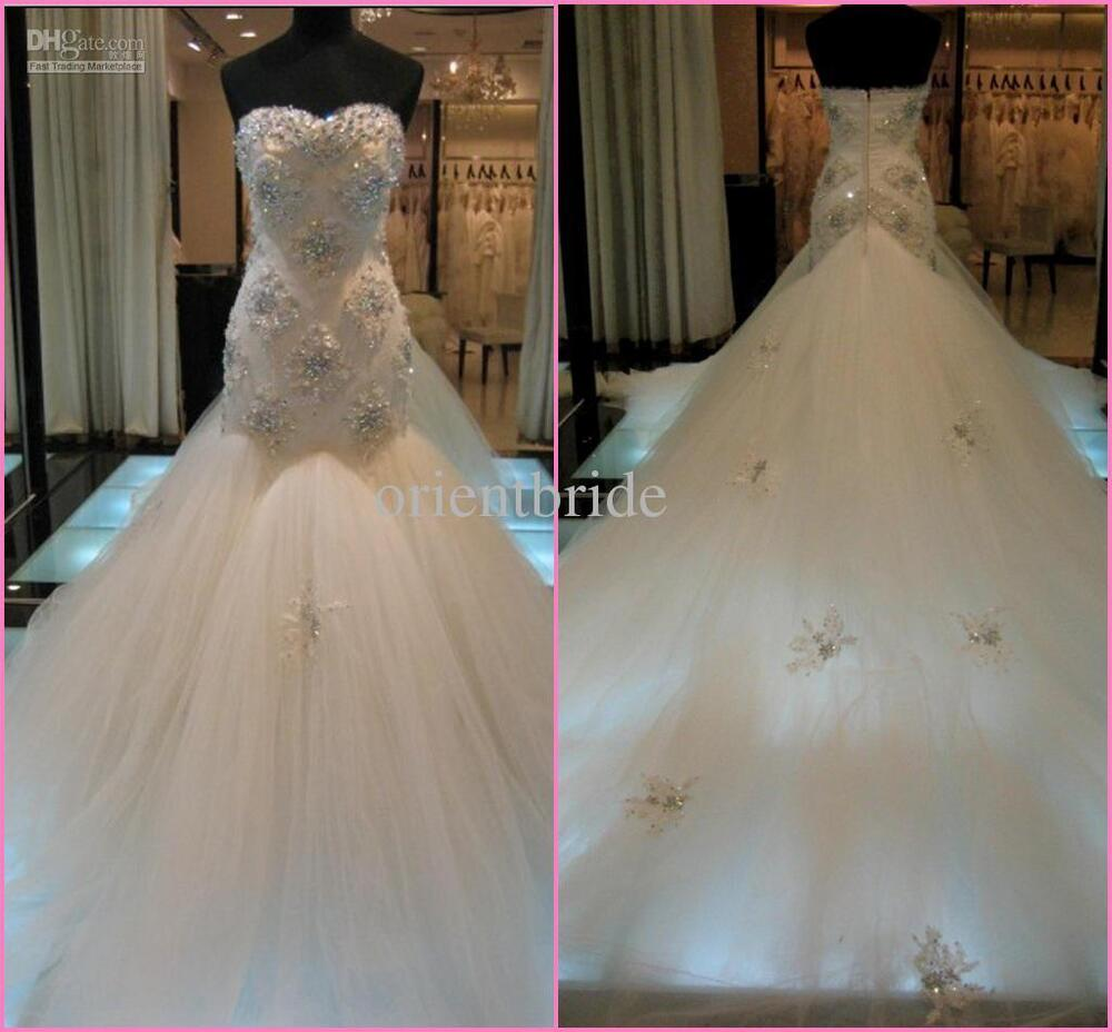 Wholesale sweetheart strapless lace mermaid wedding for Cheap wedding dresses online usa